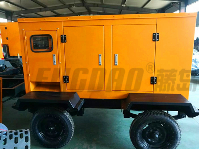 拖车式15kw柴油发电机 四缸水冷