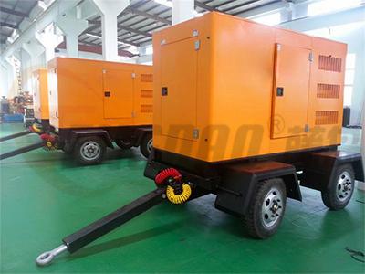 200KW拖车式静音柴油发电机组