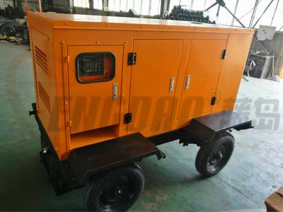 移动式静音柴油发电机组/拖车式350KW发电机组