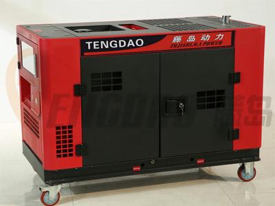 藤岛10KW静音柴油发电机/双缸风冷发电机组价格