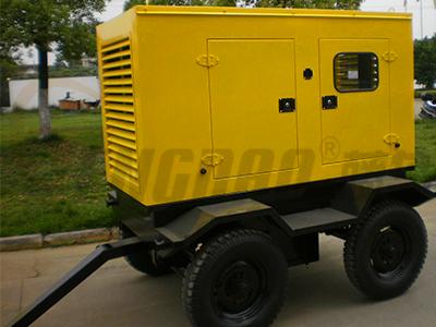 潍柴120KW静音柴油发电机组价格|四轮移动发电机组报价