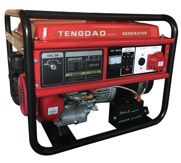 藤岛7.5KW汽油发电机组价格/单三相电启动发电机组