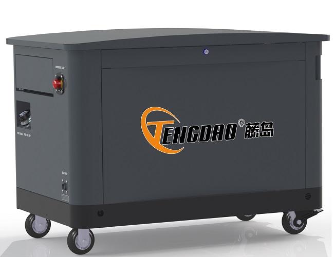 10KW静音燃气发电机组/四缸水冷汽油发电机价格