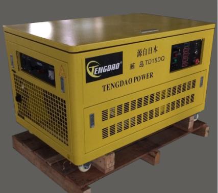 15KW静音汽油发电机组/四缸水冷发电机