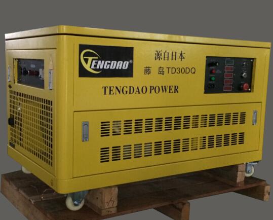 30KW静音汽油发电机组价格/移动式四缸水冷发电机组