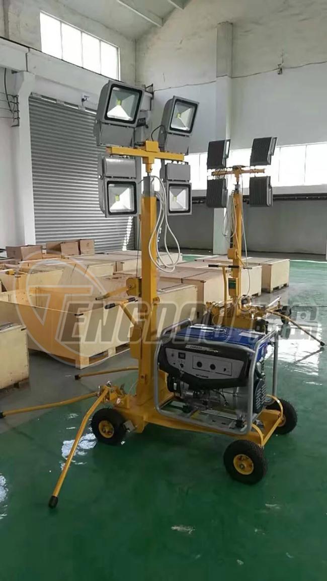 雅马哈5KW汽油发电机移动照明灯车