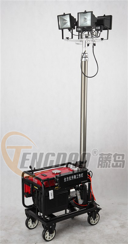 TD4L500移动照明升降泛光灯.本田2KW发电机照明灯车