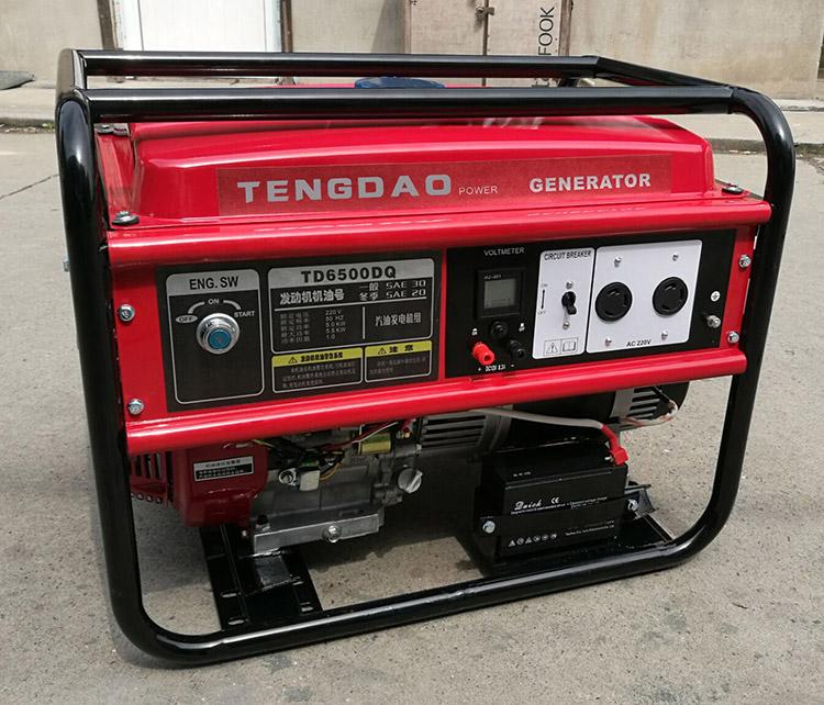 5KW汽油发电机组参数/单相电启动发电机价格
